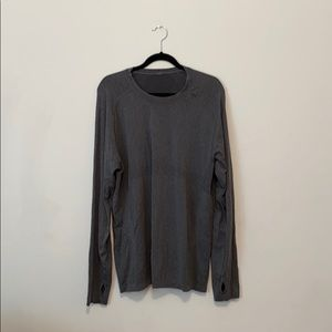 Gray Lululemon men's metal vent long sleeve shirt